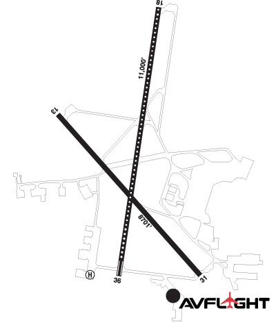 Airport Diagram of CYWG