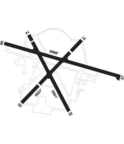 Airport Diagram of CYYJ