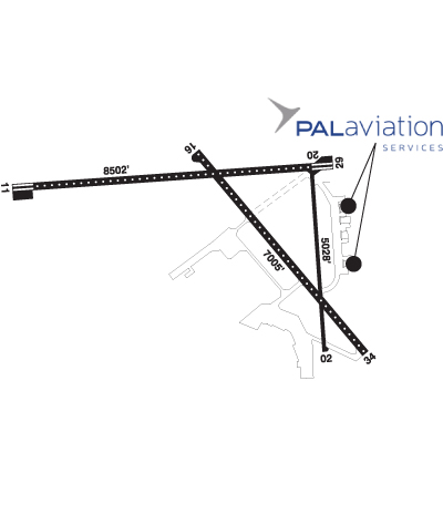 Airport Diagram of CYYT