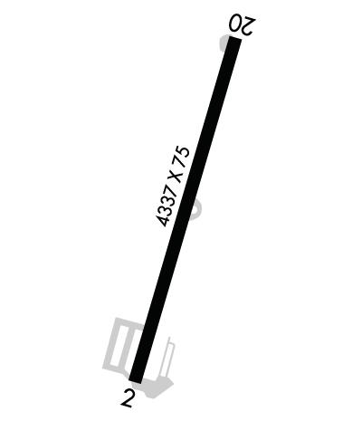 Airport Diagram of KAKQ
