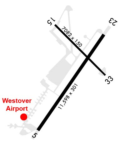 Airport Diagram of KCEF