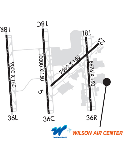 Airport Diagram of KCLT