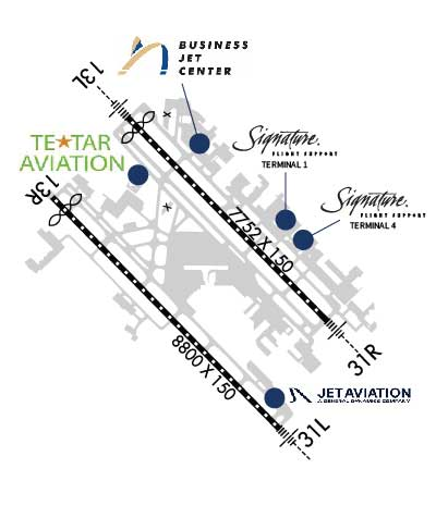 Airport Diagram of KDAL