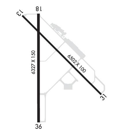 Airport Diagram of KDBQ