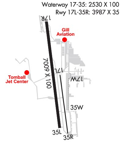 Airport Diagram of KDWH