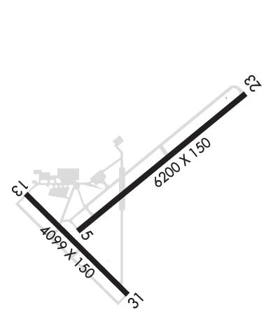 Airport Diagram of KJBR