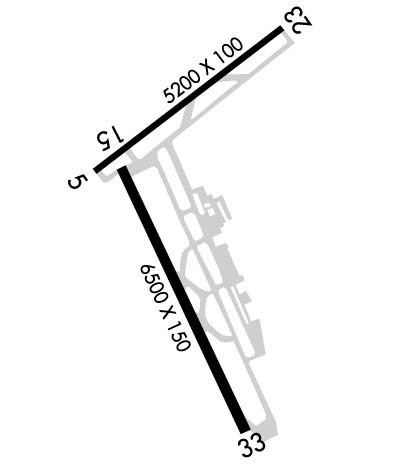 Airport Diagram of KLCH