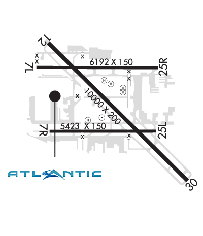 Airport Diagram of KLGB