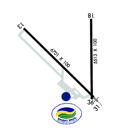 Airport Diagram of KMHE