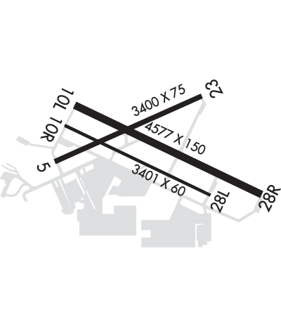 Airport Diagram of KMYF
