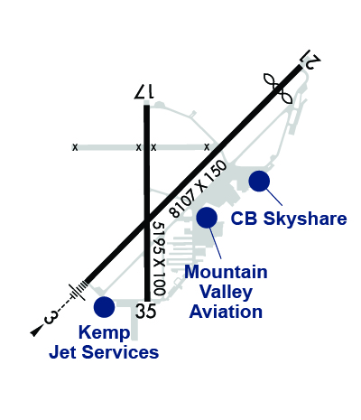 Airport Diagram of KOGD