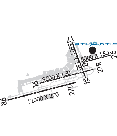 Airport Diagram of KPHL