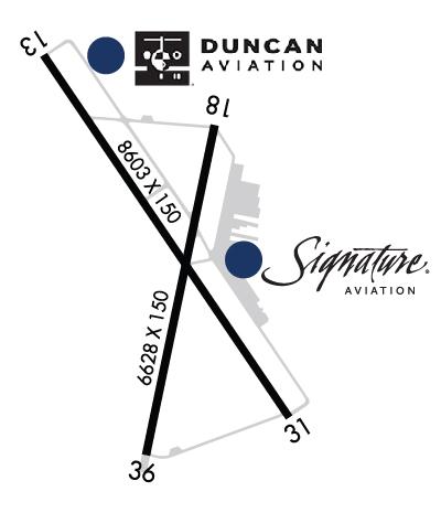 Airport Diagram of KPVU