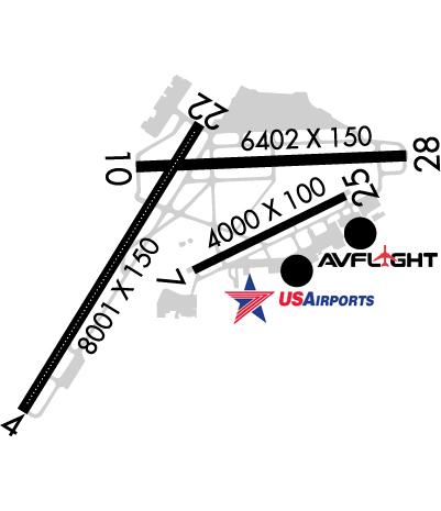 Airport Diagram of KROC