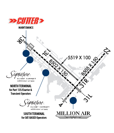 Airport Diagram of KSAT