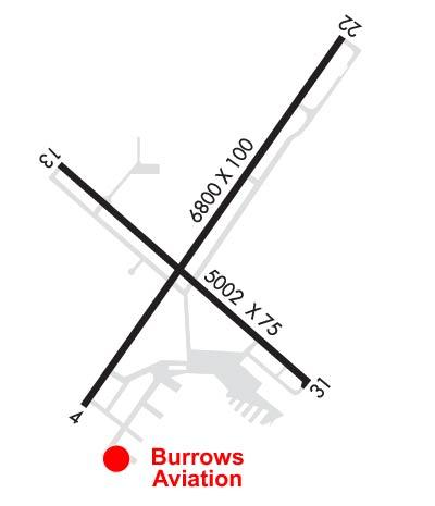 Airport Diagram of KSBM