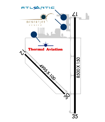 Airport Diagram of KTRM